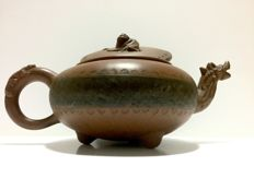 Yixing Zisha teapot, Dragon head and qilin , China early first half of the 20th century