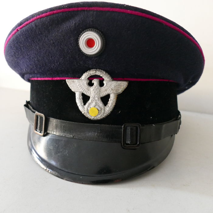 Cap of the German Feuerschutzpolizei (Fire Brigade)- WWII