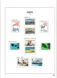 United Europe 1986/1990 - Collection in Davo LX album Pat V and flags United Nations in album