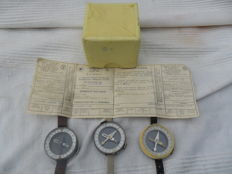 Pilot's compasses 3x - Russian-made - unused.