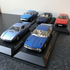 Minichamps - Scale 1/43 - Lot with 5 models: Lamborghini, Maserati & Ferrari,