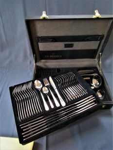 CS - Carl Schmidt & Sohn Solingen Germany - fancy cutlery - 12 people - 70 pieces - 23/24 kt partially gold plated - unused new condition