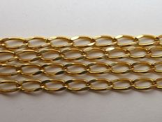 Long curb chain in 18 kt gold - 61 cm