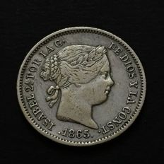 Spain - Isabel II - 10 cents of escudo - 1865 -