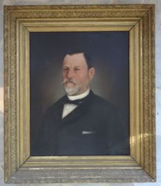 Portrait of man 19th century signed GONZALEZ