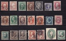 USA 1851/1938 - tie stamps on stock card