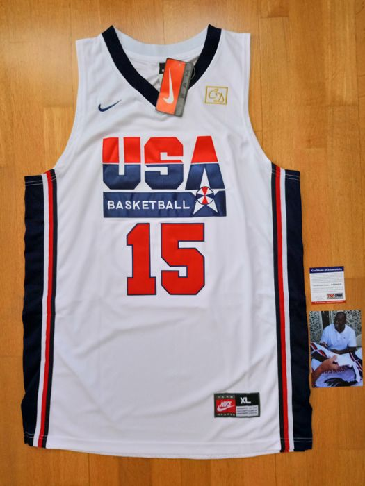 Earvin Magic Johnson - signed  USA team (Dream team 1992 Olympic Games) Jersey + COA  - PSA/DNA