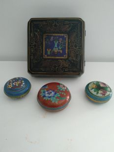 Set of 4 jewellery boxes - China - mid-20th century +