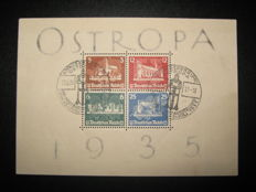 German Empire/Reich 1935 Michel block No. 3 special (commemorative) cancellation 23.6.35 - first day stamp