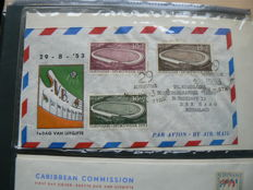 Dutch Antilles and Surinam 1952 /1982 Collection FDC´s in three albums