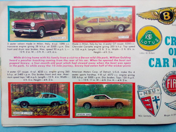 panini variant star cars of 1971 complete album catawiki. Black Bedroom Furniture Sets. Home Design Ideas