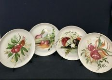 "Set of 4 ""Mancioli"" Collection Plates, Limited Edition"
