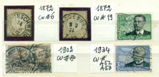 Germany 1867/1960 - Collection of 221 stamps, many interesting