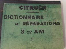 Citroën ami6, 3CV, big dictionary of repairs, 1962, original