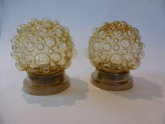 Unknown designer - Bubble wall lights (2 x)