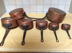 Series red copper cooking pots