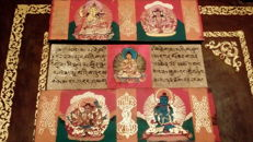 Antique Tibetan manuscripts with illuminated miniatures - late 18th century