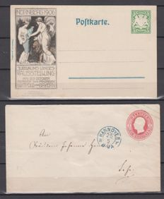 Old Germany lot approx. 90 postal stationery from Bavaria/Hanover/Heligoland/Wurttemberg