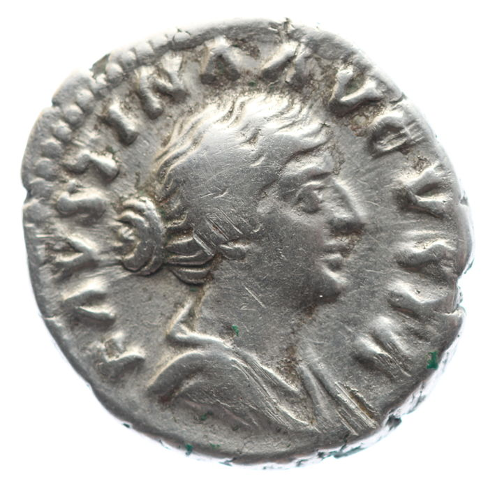 Roman Empire - AR denarius - Faustina Junior - Fecunditas - 18 mm 3,21g