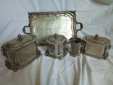 Silver set Dar tazi city of Fez Morocco 1920s without reserve