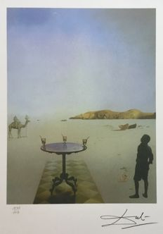 Salvador Dali (after) - Table solaire