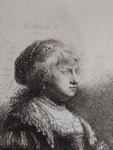 Armand Durand after Rembrandt Van Rijn -Saskia with Pearls - ca 1873