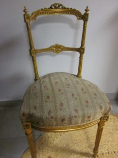 Ceremonial chair from Napoleon III period, France, circa 1880.