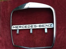 Mercedes 190 to 300, types W110 to W112 grill with Mercedes logo enamel and a sign MERCEDES-BENZ 1960s