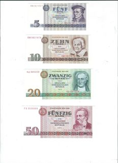 Germany (GDR) - 5 to 500 marks from GDR 1971 - 1985 - pick 27/33