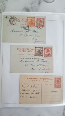 Congo - Album with postal items and sheet parts from Belgian Congo, Zaire, Rwanda and Burundi.
