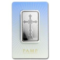 Switzerland - 1 oz Pamp Suisse 999 silver silver bar Religion Cross Romanesque Cross Rare