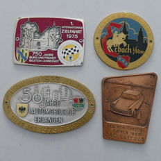 4 enamelled classic car badges 1968-1975 emblem