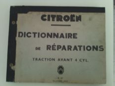 Citroen traction, repair dictionary,1954, original