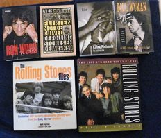 Rolling Stones - six books about and from the Rolling Stones - 1989/2010