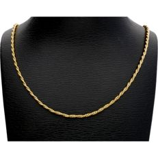14 kt. 14 kt yellow gold rope link necklace - Length: 44.7 cm