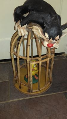Sylvester and Tweety in a cage - 1980/1970 -Lonny toys - C. AAA