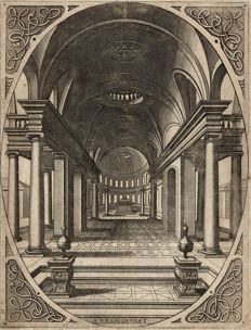 Johan or Lucas Van Deutecom, Hans Vredeman de Vries (1527-1607), Early Renaissance architectural study, 1562