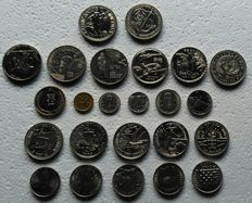 Portugal Republic - 24 Items - Commemorative Coins - Various Values - 1 Escudo to 250 Escudos - 1977 to 1998
