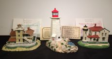 The Danbury mint and Harbour Lights Collector's society - 3 Collectable lighthouses with certificate