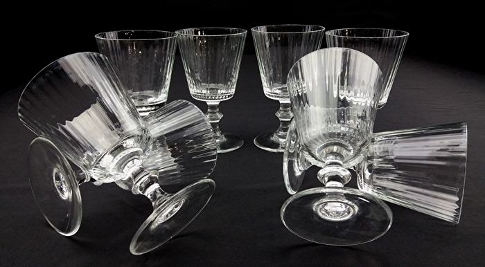 Nason Moretti - Set of eight luxury chalices in blown Murano crystal