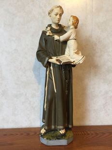 Anthony of Padua - statue - gypsum - late 19th century