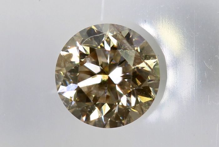 AIG Sealed Diamond - 0.34 ct - Fancy Light Brown , SI2  - * No Reserve Price *