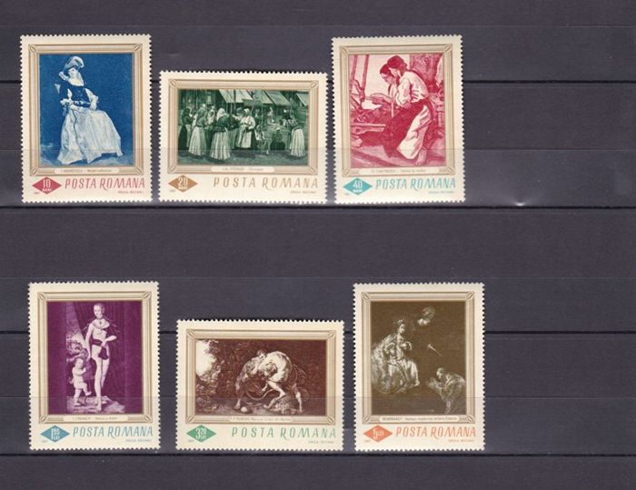 Romania 1928/1995 - Air mail Set of stamps and complete series.