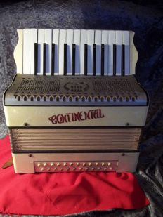Old Continental Accordion with bag.