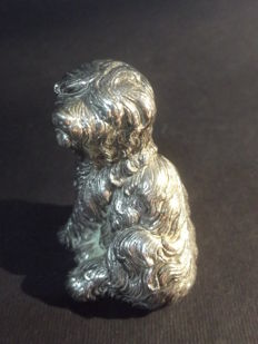925 Silver  Miniature Dog