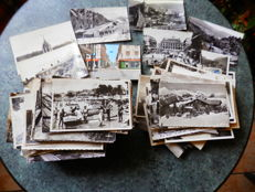 Lot of 360 small size postcards from France, 1945-1970, black and white
