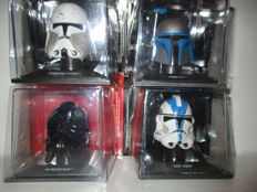 Set of 4 STAR WARS Helmets Collectables