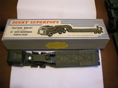 Dinky Toys, Supertoys - Scale 1/48 - Berliet tractor with windows and semitrailer for tank transport ref.890