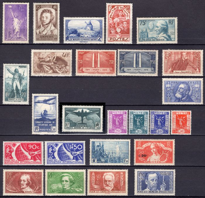 France 1936 - Complete year - Yvert 309/333.