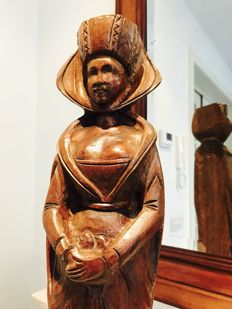 Oak wood statue of a Saint - France - circa 1930